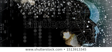 matrix · binair · illustratie · stijl · vallen · aantal - stockfoto © get4net