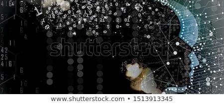 Matrix · Illustration · Stil · fallen · Zahl - stock foto © get4net