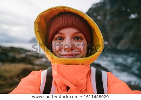 ノルウェーの 少女 小さな 伝統的な 衣装 ストックフォト © SimpleFoto