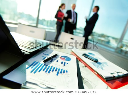 Zdjęcia stock: Business People On Chart Background