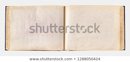 オープン · アンティーク · 革 · 図書 · 白 · テクスチャ - ストックフォト © premiere