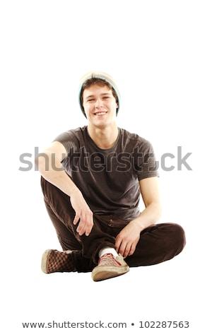 молодым · человеком · белый · стороны · человека · спорт · модель - Сток-фото © Paha_L