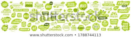 biyo · organik · eco · etiketler · elemanları - stok fotoğraf © orson