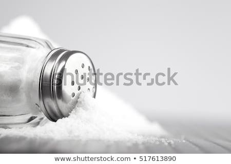 witte · zout · hoop · houten · tafel · voedsel - stockfoto © koufax73