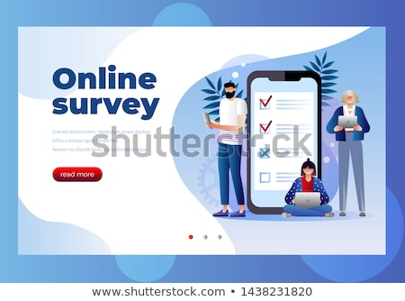 3d man rating survey questionnaire Stock photo © nasirkhan