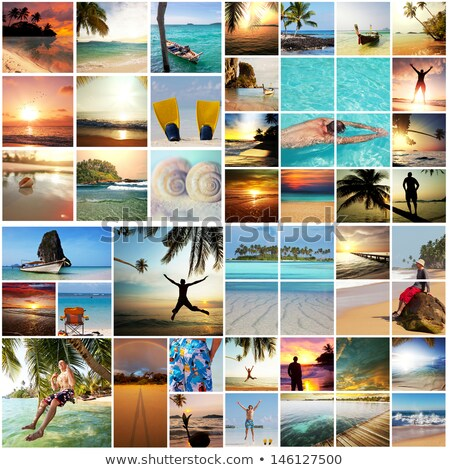 collage about beach vacations stock photo © dmitry_rukhlenko