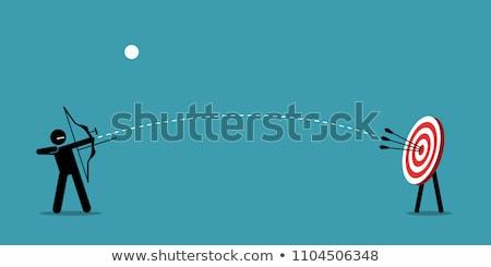 мужчин стрелка успех изображение фон бизнесмен Сток-фото © 4designersart