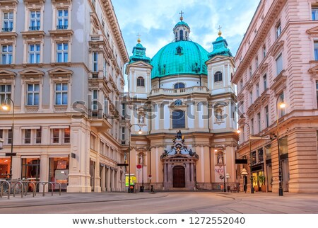 view on the peterskirche in vienna stock photo © spectral