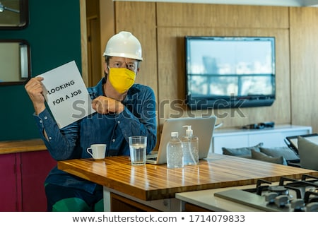 Desempleo siluetas personas desempleados mirando Foto stock © xedos45