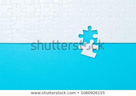 último peça quebra-cabeça mãos Foto stock © mikdam