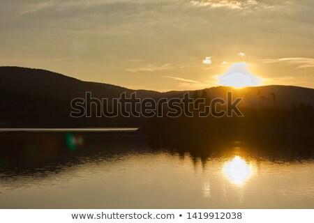 estate · tempo · sereno · scenario · in · giro · lago - foto d'archivio © prill