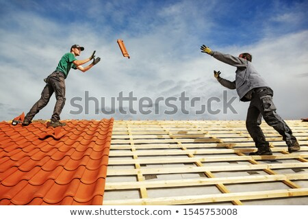 Male roofer terracotta Stock photo © photography33