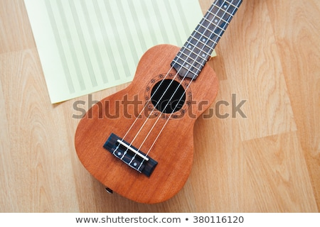 Small classical instrument on note paper stock photo © KonArt