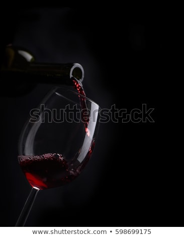 glass of wine on a black background Stock photo © maisicon