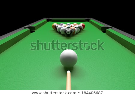3d Billiards pool table with balls,chalk and cue-stick  Stock photo © Melvin07