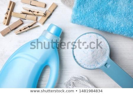szennyes · por · mosószer · izolált · fehér · takarítás - stock fotó © kitch