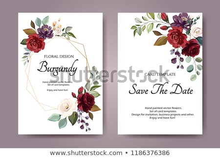 Background of red and white flowers Stock photo © boroda