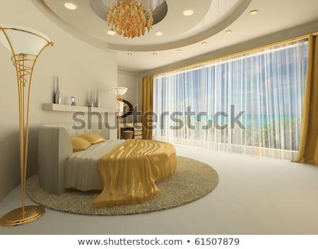luxo · quarto · dourado · mobiliário · real · interior - foto stock © victoria_andreas