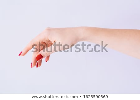 woman hand with red nails manicure Stock photo © lubavnel