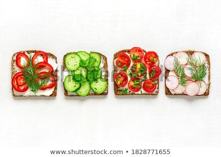 cucumber garnish with cream and pepper stock photo © m-studio