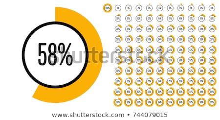 Grafikon százalék fehér üzlet üveg felirat Stock fotó © Ciklamen
