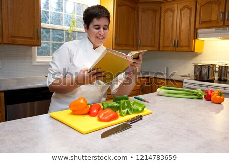 Woman ceating celery Stock photo © photography33