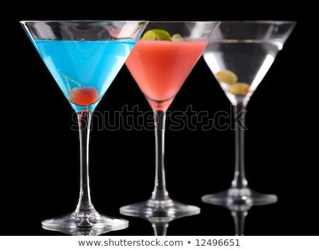 Cosmopolite martini bleu cocktails verre de martini design Photo stock © kristyna