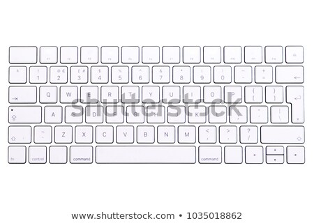Key and security button on computer keyboard isolated on white b Stock photo © pinkblue