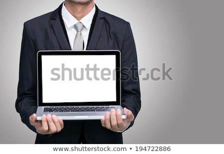 tradesman holding a laptop stock photo © photography33