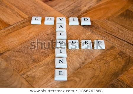 white alphabet lettering spelling global stock photo © stryjek