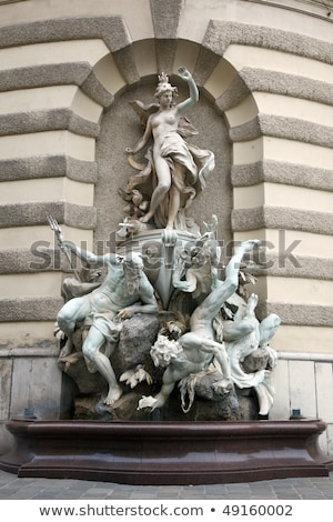 Fonte trimestre Viena Áustria pedra arquitetura Foto stock © vladacanon