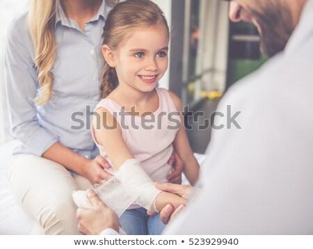 Gülen çocuk bandaj portre mutlu hastane Stok fotoğraf © wavebreak_media