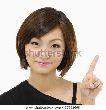 Pretty young woman facing accusation Stock photo © roboriginal