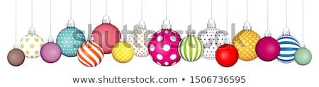Renkli Noel önemsiz şey süslemeleri renkli Stok fotoğraf © byjenjen