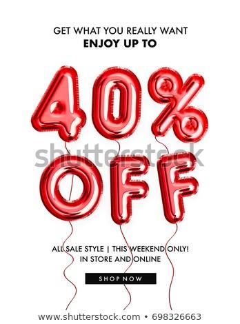 40 · pourcentage · vente · rouge · bannière - photo stock © marinini