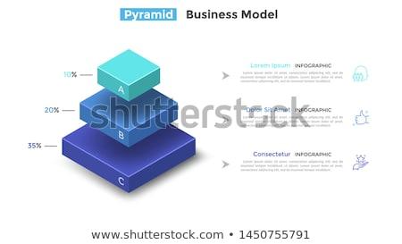 jerarquía · negocios · diagrama · ilustración · estrategia · de · negocios · infografía - foto stock © tashatuvango