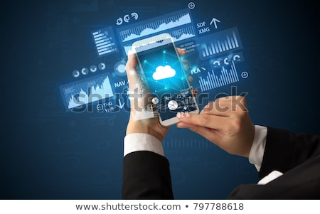 Nuage applications image illustration affaires Photo stock © bagiuiani