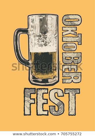 Vintage Style Beer Graphics Stock photo © squarelogo