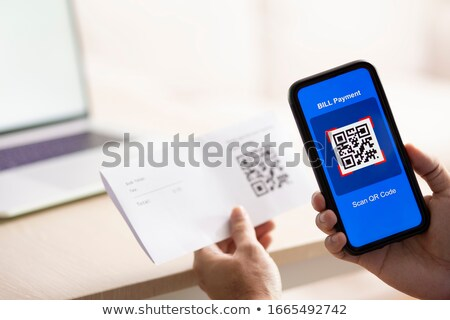 Smartphone code illustratie qr code technologie communicatie Stockfoto © cla78