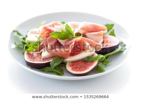 Stok fotoğraf: Ekmek · jambon · arka · plan · kahvaltı · öğle · yemeği · taze