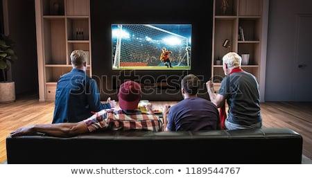 3d man watching tv Stock photo © digitalgenetics