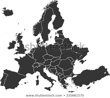 Detailed map of Europe Stock photo © rbiedermann