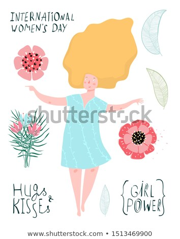 Shapely blonde girl and the spring collection Stock photo © konradbak
