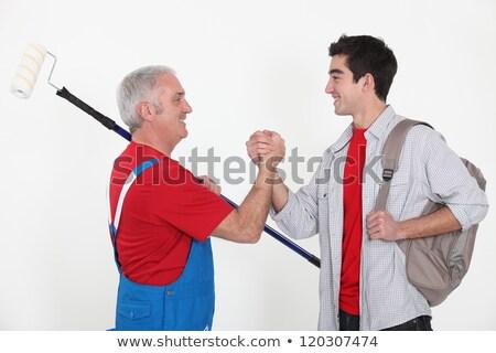 Artisan apprenti serrer la main mains hommes outils Photo stock © photography33