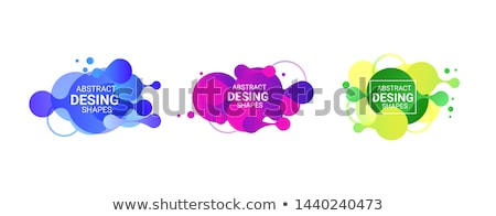 Stock photo: abstract green blue purple organic wave pattern