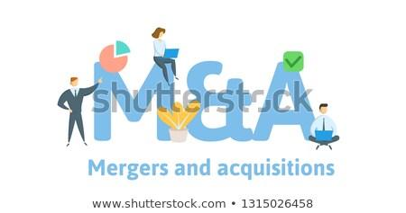 korporacyjnych · działalności · trzy · dróg · jeden · koncentruje - zdjęcia stock © lightsource