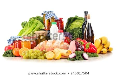 Stockfoto: Kaas · wijn · achtergrond · boerderij · melk · fles