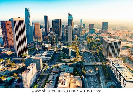 Los · Angeles · horizontaal · breed · shot · skyline · schemering - stockfoto © meinzahn