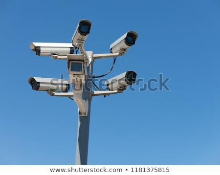 камеры безопасности полюс 3d визуализации безопасности камер Сток-фото © Florisvis