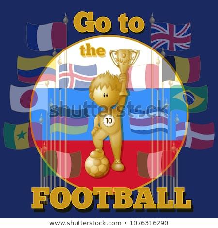 Plakat piłka nożna kolorowy sportu piłka nożna Zdjęcia stock © leonido